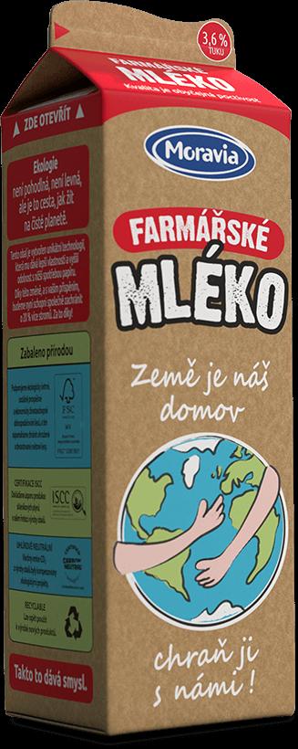 Farmářské mléko - obal